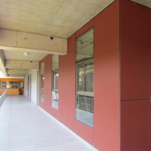Revestimiento Fibrocemento Natura en Laboratorio de Física - Pizarreño / Etex Chile