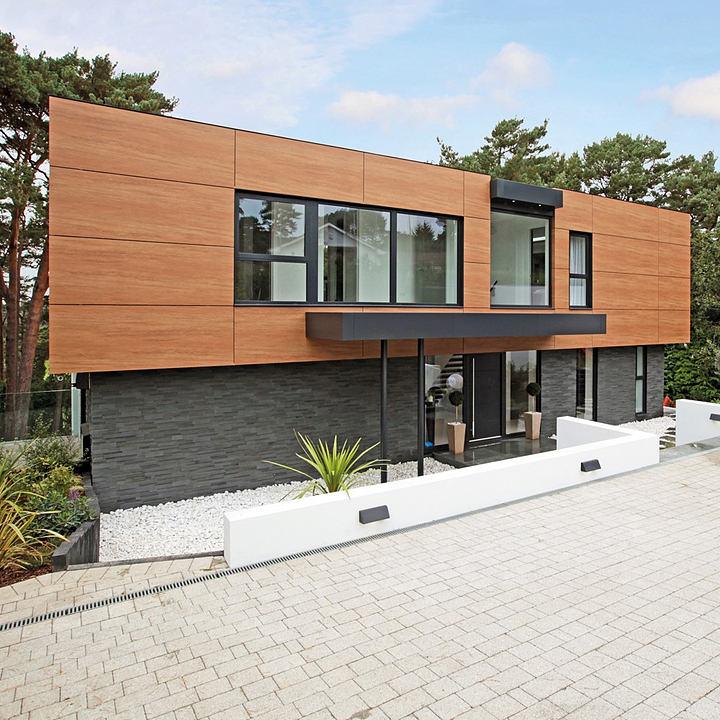 Coverlam Facade in Single Family Home