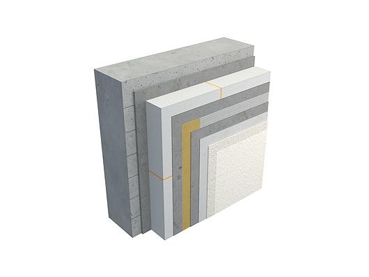 Sistema de Fachada EIFS StoTherm | Tabique de hormigón armado con base y protección superficial