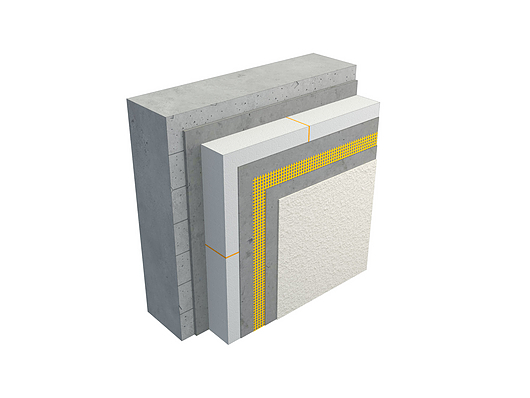 Sistema de Fachada EIFS StoTherm® | Tabique de hormigón armado in situ