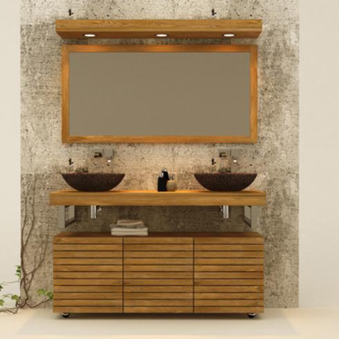 Muebles de ba os en madera de teca accesorios de ignisterra - Accesorios bano madera ...