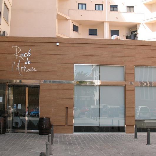 Coverlam in Racó De L'Arnau Restaurant