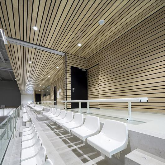 Acoustic Cladding - Linear Veneered Wood Panels / Hunter Douglas Architectural (Europe)