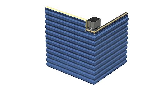 Designwall R-Series Transverse Bent Corner