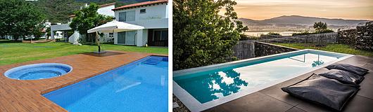 Izquierda: Casa Privada en México, © Instalika | Derecha: Casa Privada en Portugal, por Pedro Correia & Rui Guimarães-Arquitectos Associados Lda