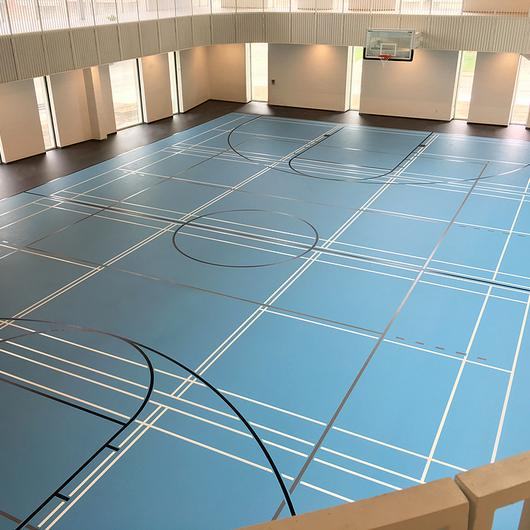 PolyTurf Pad and Pour Sports Floor / Tarkett Sports