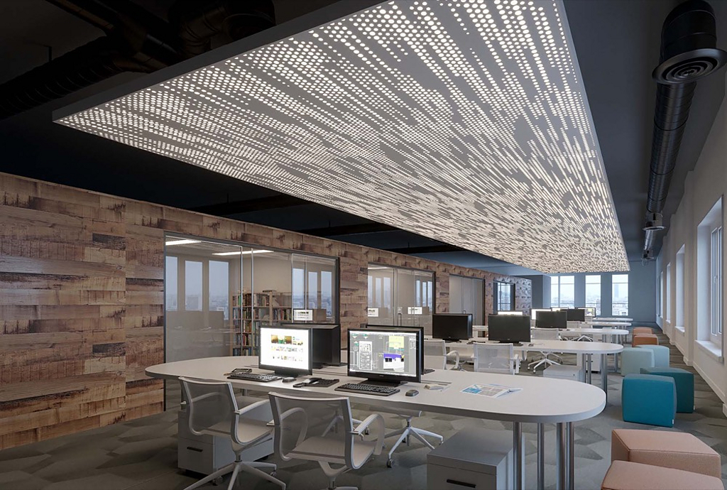 Vapor Soft Acoustic Panel Ceilings From Arktura