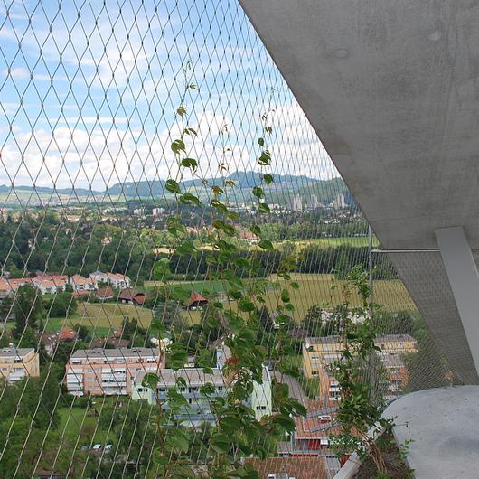Mallas de metal para jardines verticales
