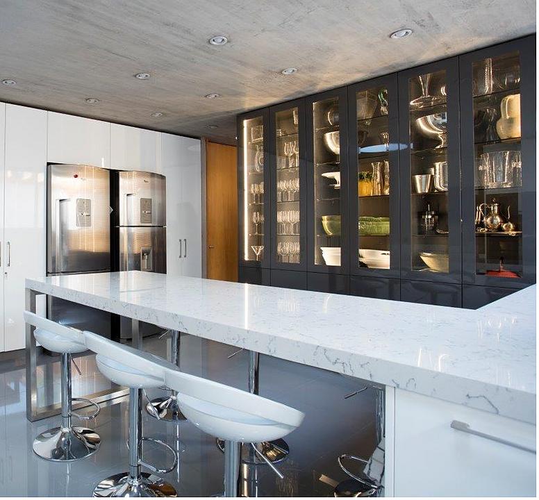 Cocinas - Muebles para almacenaje en vitrina