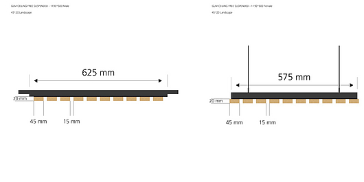 Module Free Suspension - Landscape 45x20 | Gustafs