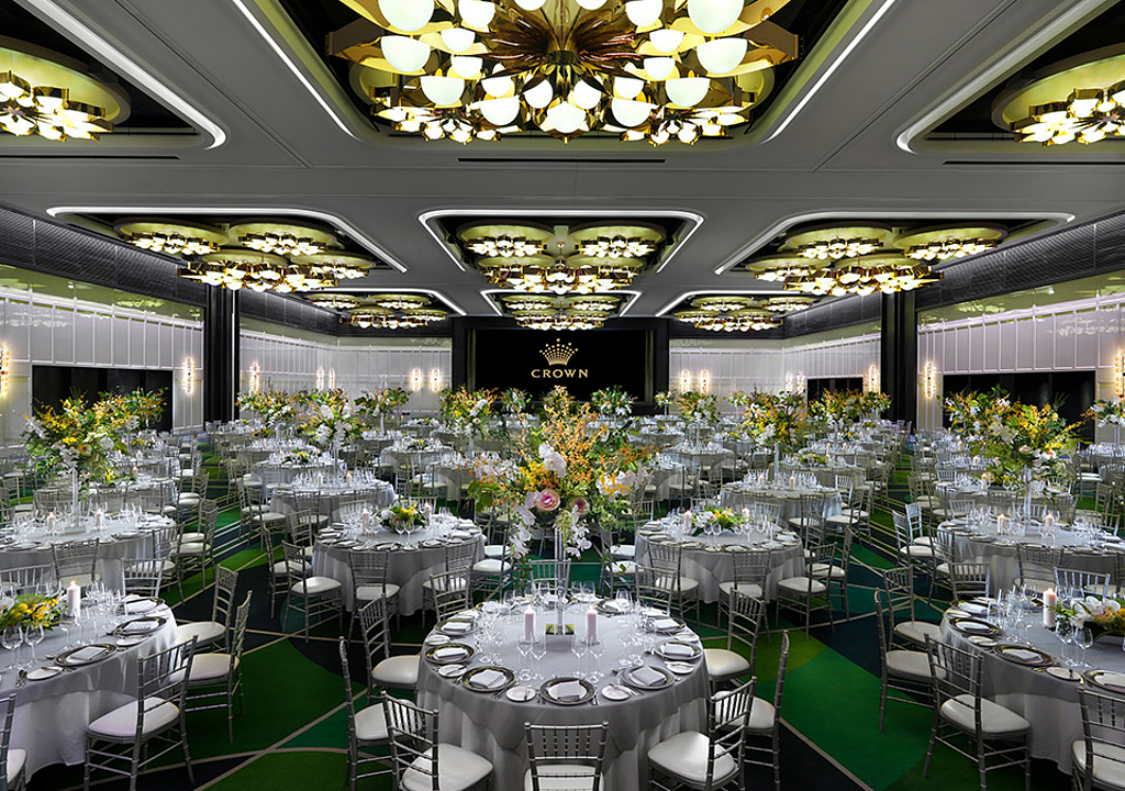 Custom Luminaires in Crown Perth Ballroom