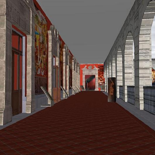 Representación de una galería virtual en ARCHICAD