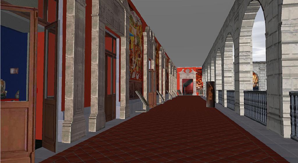 Representación de una galería virtual en Aechicad