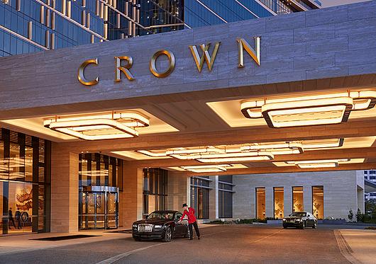 Crown Perth Porte Cochere Luminaires | Aglo Systems