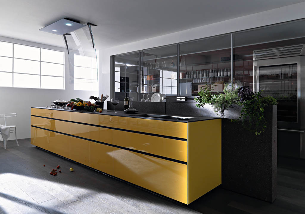 Kitchen cabinet - Artematica Vitrum from Valcucine