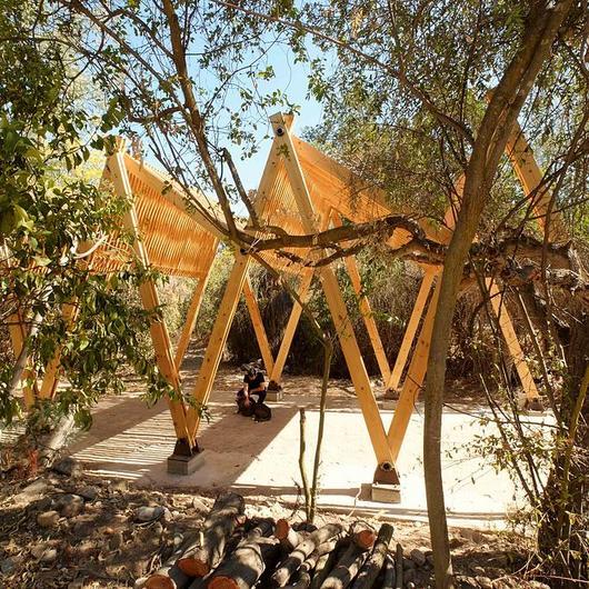 Aplicación de madera en Quincho / Arauco