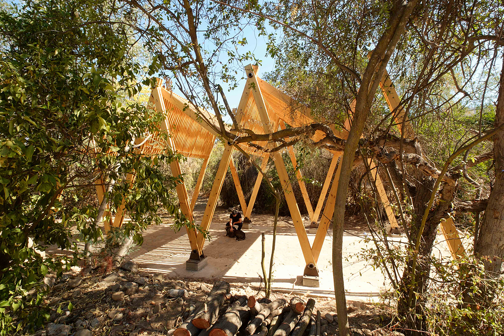 Aplicación de madera en Quincho