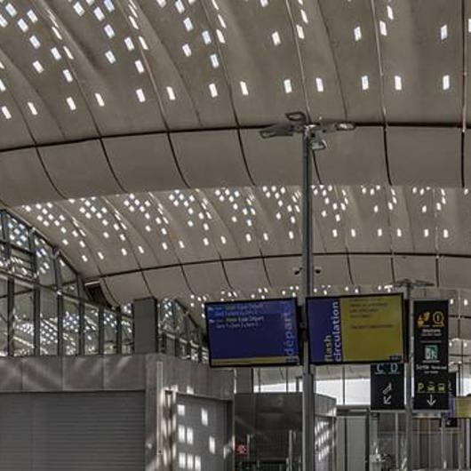 UHPC Roofing of Montpellier TGV Station