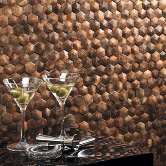 Mosaico de aluminio Corten - DUNE