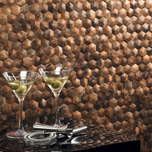 Mosaico de aluminio Corten - DUNE / Atika