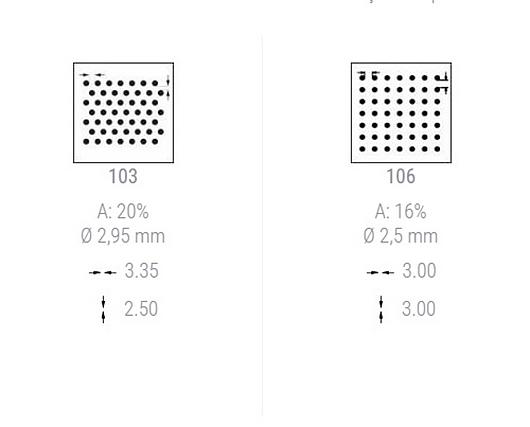 Perfurações | Brise de Controle Solar - Aeroscreen Curvo/Plano | Hunter Douglas do Brasil