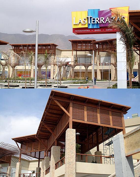 Madera en centro comercial - Mall Plaza Antofagasta