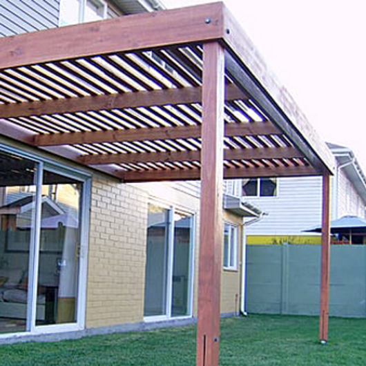Madera en pérgola, porche y terraza