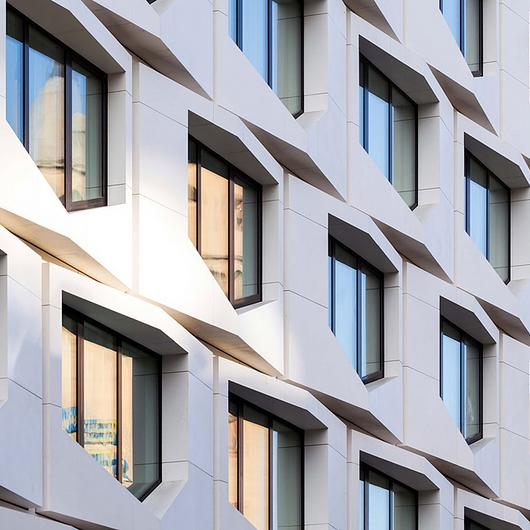 Sintered Stone Facade - Flare of Frankfurt / Neolith