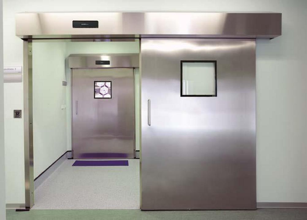 Puertas de hospital herméticas e higiénicas