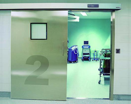 Puertas de hospital herméticas y higiénicas