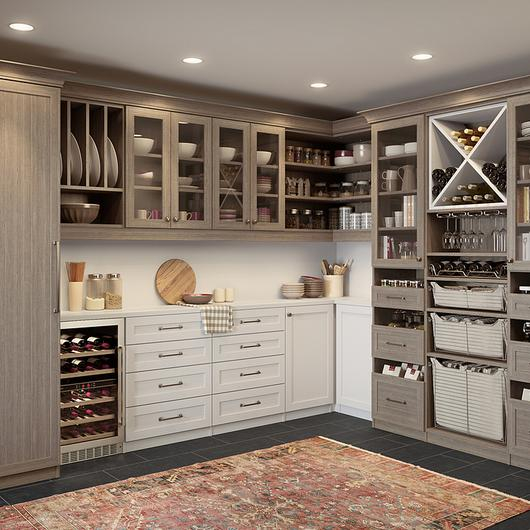 Mobiliario de madera para alacena / California Closets