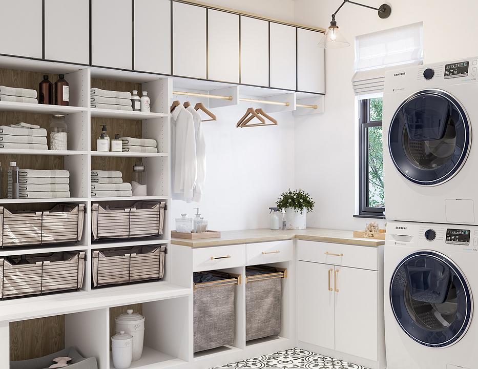 Mobiliario de madera para centro de lavado