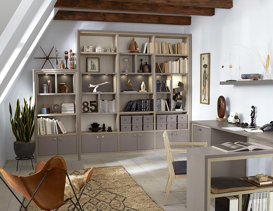 Mobiliario de madera para home office