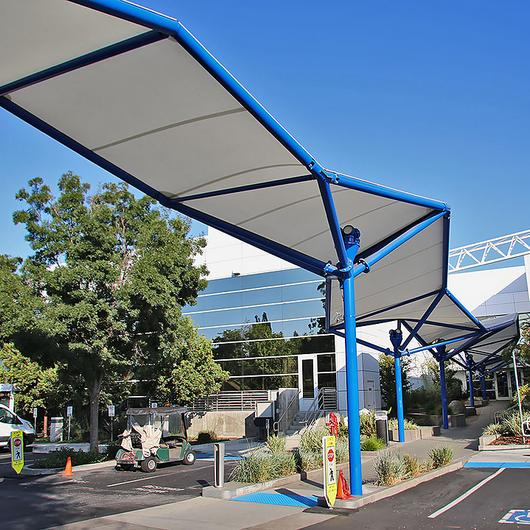 Covered Walkway Tensile Membrane Structures / FabriTec Structures