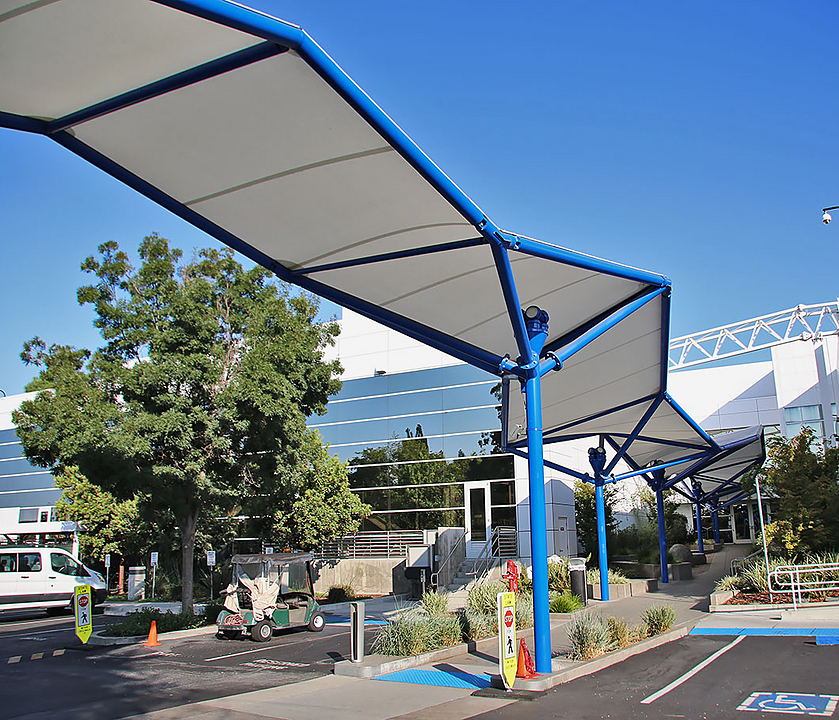 Covered Walkway Tensile Membrane Structures