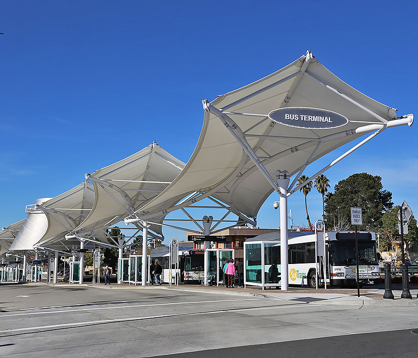 Bus Station Tensile Membrane Structures