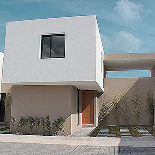 Melamina Vesto en conjunto residencial - Azul Marrón / Arauco