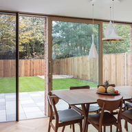 Integrated Sliding Door in Family Home