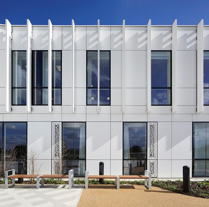 Corian® Cladding in NGS MacMillan unit from Corian® Exteriors
