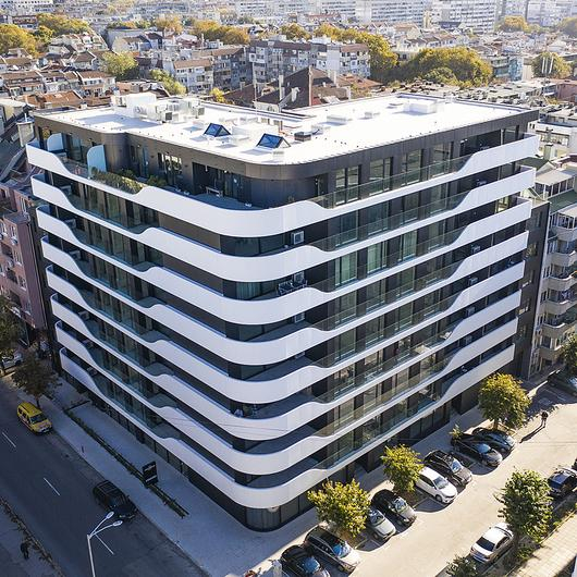 Corian® Exterior in Varna Wave Building