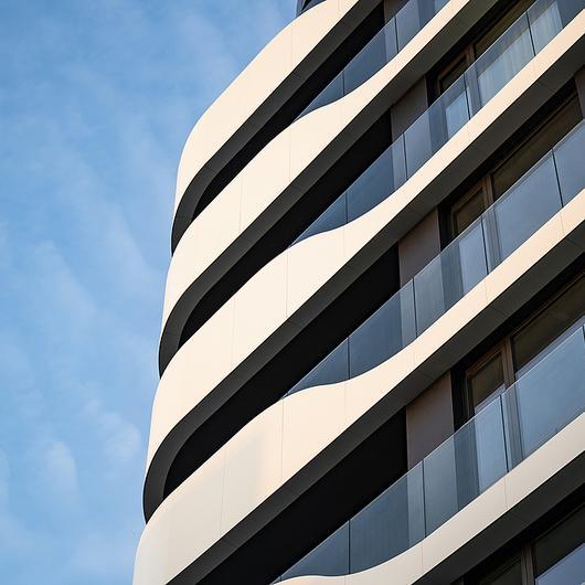 Corian® Exterior in Varna Wave Building