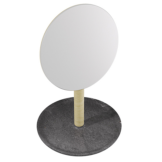 BALDA HAND MIRROR DARK NATURAL