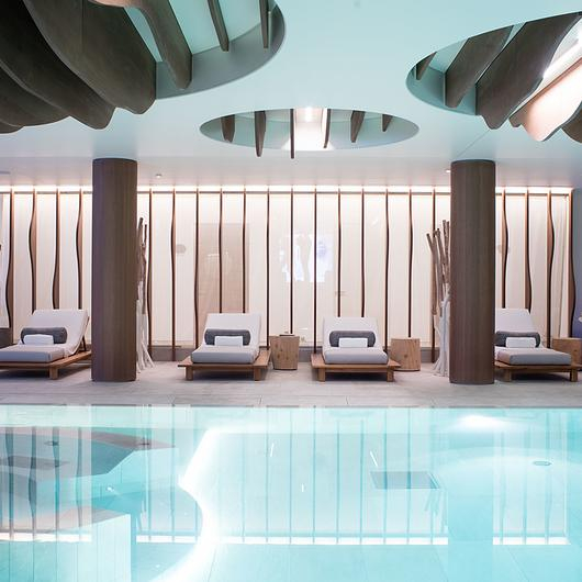 Puertas al ras de la pared - Six Senses Spa