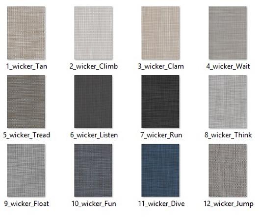 Padrões linha Wicker | Pisos têxteis de alta performance | Hunter Douglas Brasil