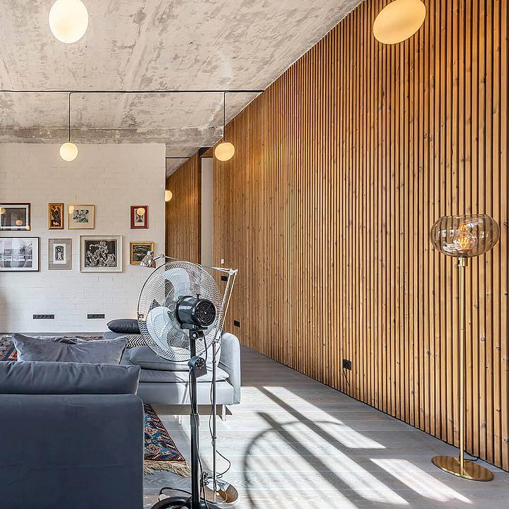Thermowood Façade in Private Apartment Vilnius