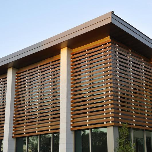 Control solar - Celosía fija Prodema / Hunter Douglas