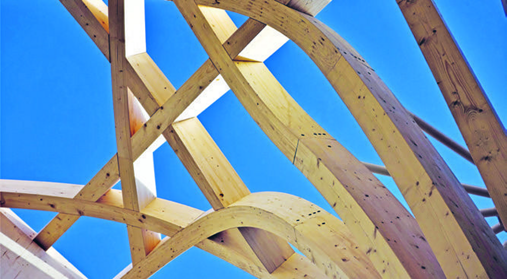 Timber Construction in Cambridge Mosque