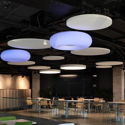 Islas acústica AMF en oficinas COPEC