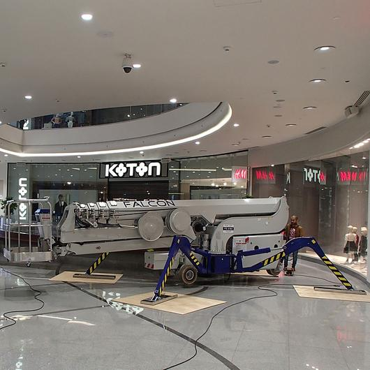 Falcon Spider Lift in Oceania Shopping Mall / Falcon Lifts