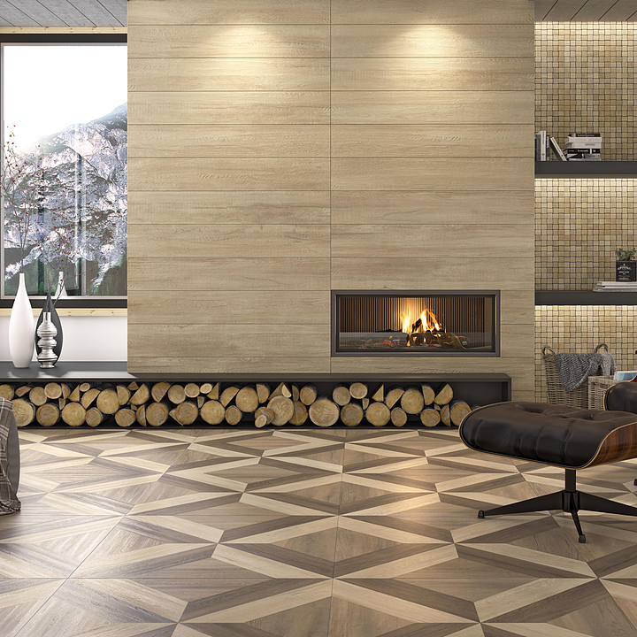 Wood-Look Porcelain Tiles - Sajonia